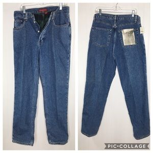 Vintage Banana Republic Flannel Lined Jeans 34x32